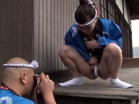 【エロ動画】お祭りに行く娘のふんどし姿に欲情した父親
