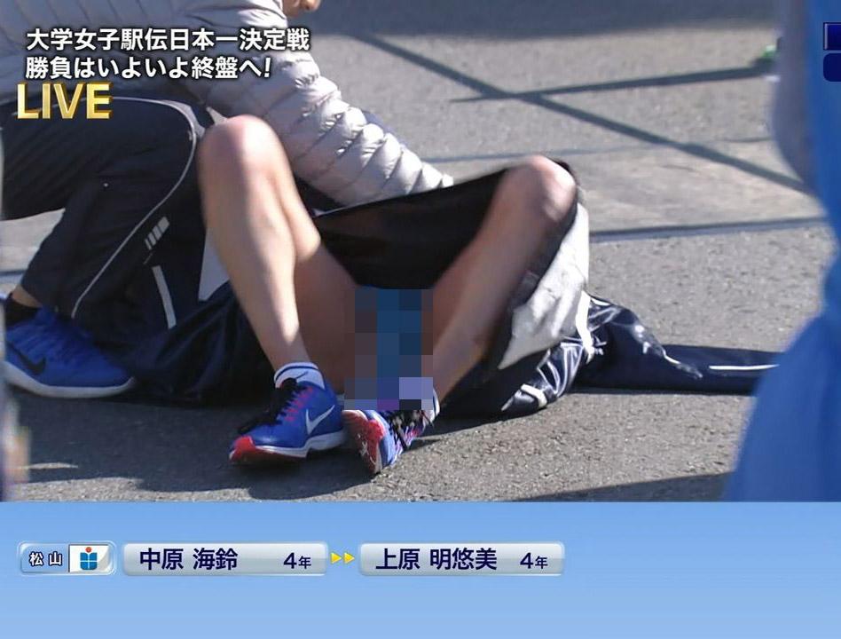 【※ガチ事故連発※】  昨日の、富士山女子駅伝中継でハミまω&ハミパンが連発で映るwwwww